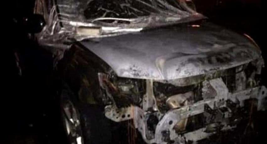 Автомобиль главы Ткуарчалского района сгорел в субботу утром