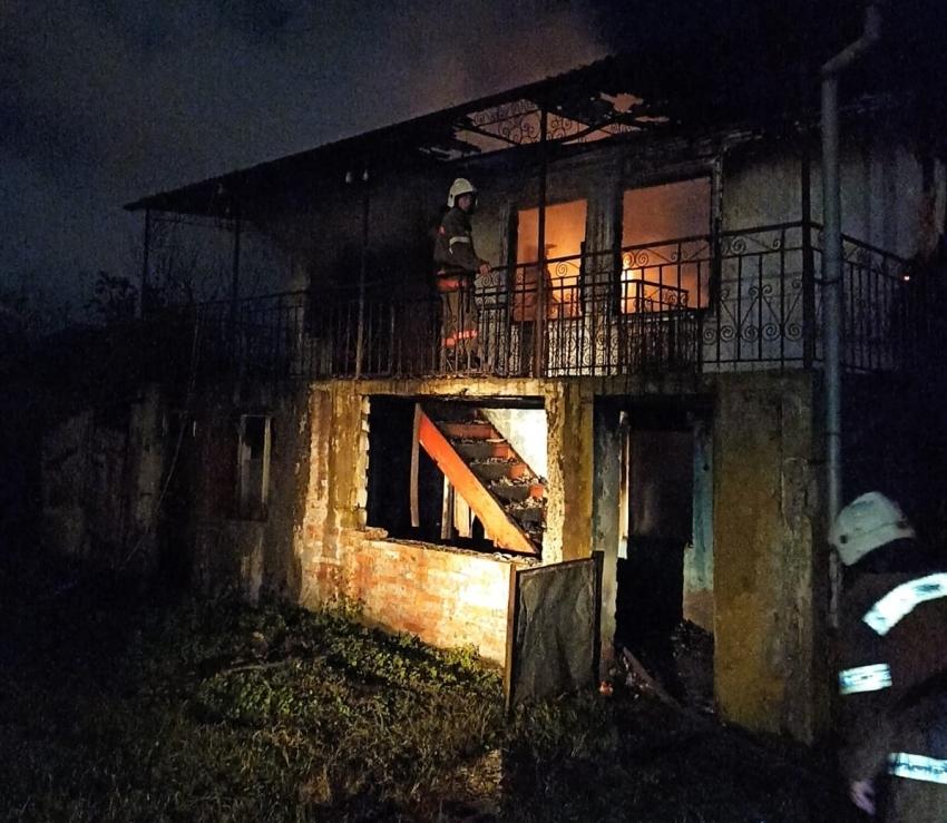 Пожар в Дранде