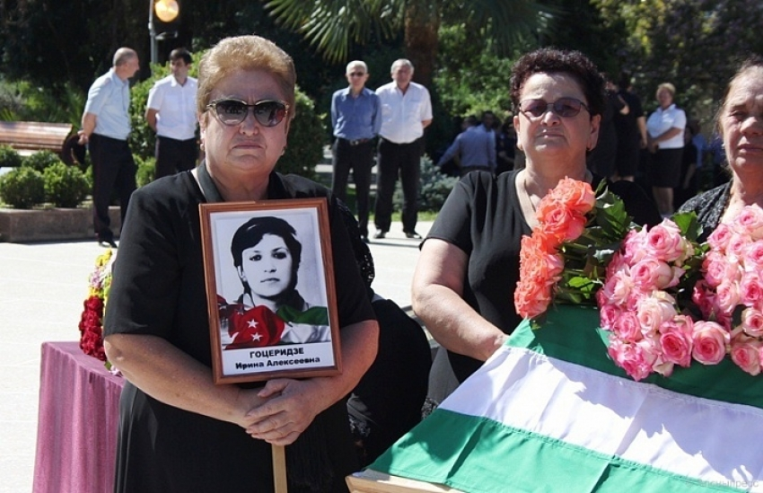 Герой Абхазии Ирина Гоцеридзе с почестями предана земле