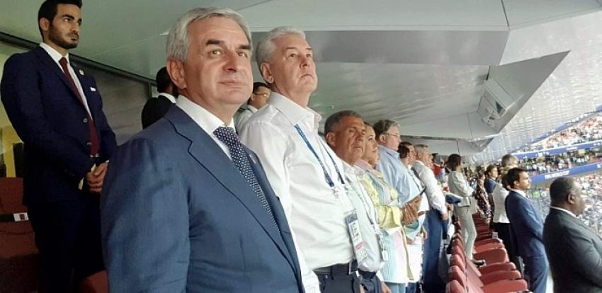Президент Абхазии посетил закрытие Чемпионата мира по футболу