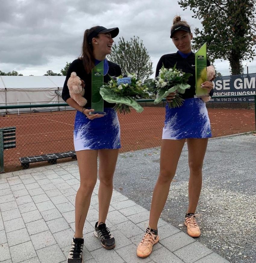 Теннисистка Амина Аншба в паре с Анастасией Детюк победила на турнире в Германии
