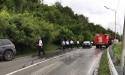 Фотофакт: авария в районе Эшеры
